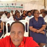 The photo taken  during launching of 2020 year of the nurse and midwife in Muranga County